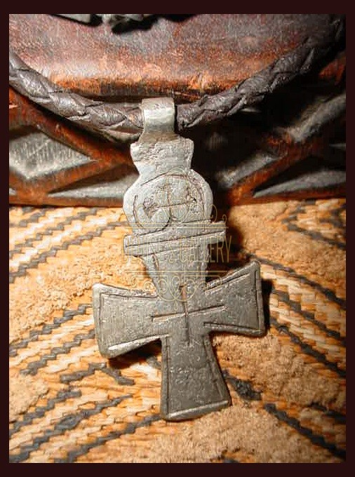 *COPTIC CROSS & BRAIDED LEATHER CORD NECKLACE ~ ITEM # dgn-007 ~