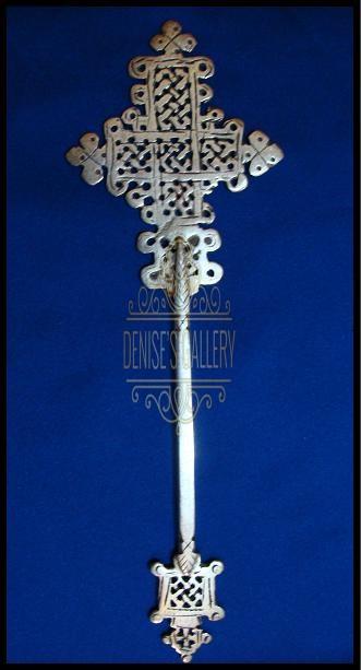 ** BEAUTIFUL & ORNATE, Coin Silver COPTIC HAND CROSS~ ITEM # dwg-505 ~