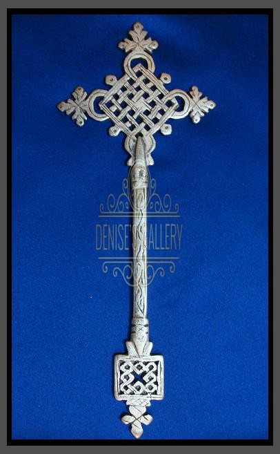 *BEAUTIFUL & INTRICATE, Coin Silver COPTIC HAND CROSS ~ ITEM # dwg-506 ~