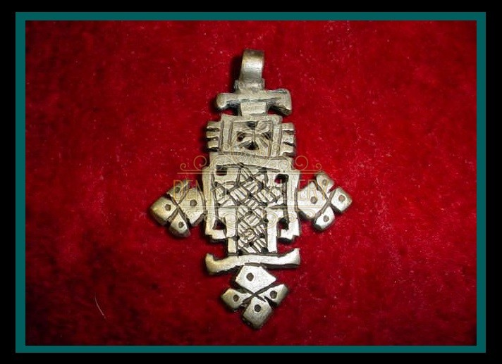 NICE! AUTHENTIC, COIN SILVER COPTIC CROSS PENDANT